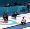 Второй  соревновательный день Паралимписких игр принес победу российской команде по керлингу на колясках